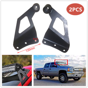 Refit Off-road Vehicle Windshield Mounting Brackets Roof LED Light Strip Bracket