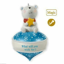 Hallmark Bundle What Will You Wish For? 2010 Magic Ornament, Book & Stuffed Bear