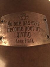 lenny eva sentiment No One Has Become Poor By Giving- Antique Silver- New