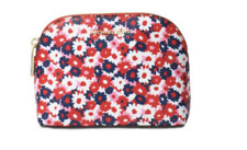 Michael Kors Women`s Medium Begonia Red, White & Blue Travel Pouch