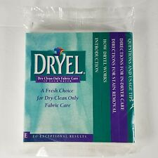 Vintage Genuine Original DRYEL Brand New Absorbent Pad 4 Pack For Stain Removal