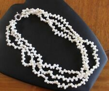 Genuine Freshwater Pearl 45 cm Necklace with Solid Sterling Silver Clasp FPH