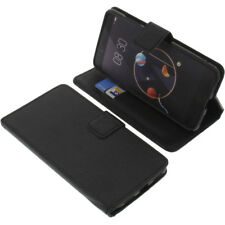 Tasche für Archos Diamond Alpha Smartphone Book-Style Schutz Hülle Buch Schwarz