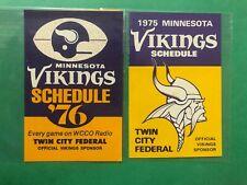 1975 & 1976 MINNESOTA VIKINGS  SCHEDULES