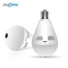 JeaTone Bulb Lamp Wireless IP Camera Wifi 960P Panoramic FishEye Home Security
