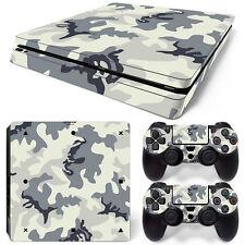 Sony PS4 Playstation 4 Slim Skin Aufkleber Schutzfolie Set - Camouflage 2 Motiv