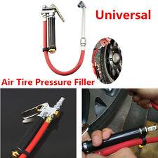 Universal Air Tire Pressure Tire Meter Filler Dual Chuck Inflator Gun Car Gauge