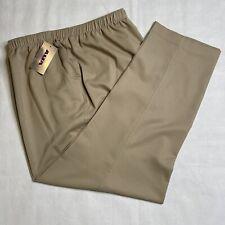 ALIA Microfibre Twill Straight Leg Elastic Waist Pants Women's 24W NEW