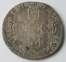 More details for 1697 william iii sixpence silver coin