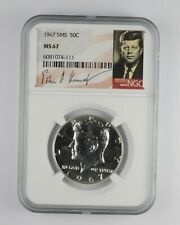 1967 MS67 SMS Special Mint Set Kennedy Half Dollar NGC Graded *064