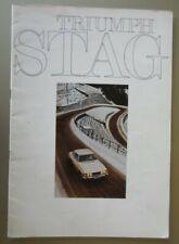 TRIUMPH STAG orig 1972 UK Mkt 20pp Sales Brochure
