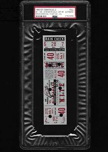 1963 Spahn/Marichal 15 shutout innings Willie Mays walk-off HR Full ticket PSA