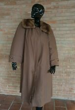 Cappotto con pelliccia castoro e visone fur coat fourrure fuchs pelz mink nerz