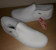 New Vans White The Classic Slip On Shoes Womens 11