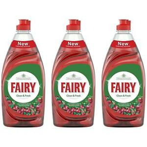 3 x Fairy Clean & Fresh - Pomegranate & Honeysuckle - Washing Up Liquid - 520ml