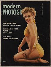 New listing Vintage August 1954 Modern Photography Magazine Sexy Bikini Marilyn Monroe Cover