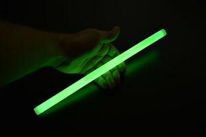 DirectGlow 10 Ct Green 12 Inch Glow Sticks Jumbo Large Bright Industrial Grade