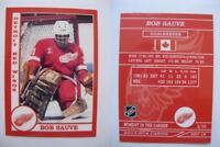2015 SCA Bob Sauve rare Detroit Red Wings goalie never issued produced #d/10
