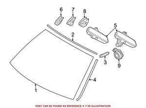 For BMW Genuine Interior Rear View Mirror Cover Front 51169275008