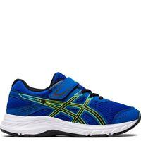 Asics Boy's Contend 6 PS [ Tuna Blue/Black ] Running Shoes - 1014A087-401