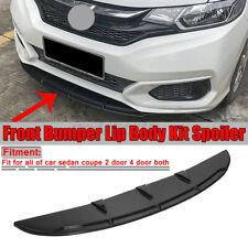 Universal Black Car Front Bumper Spoiler Chin Lip Splitter Valence Trim
