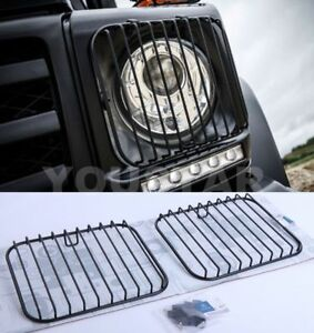 Direct Fit 2x Headlight Protection Guard Grills for Mercedes Benz G W463 BLACK