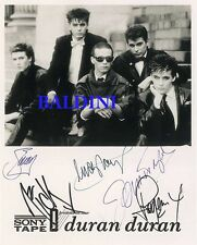 DURAN DURAN - SIGNED 10X8 PHOTO, GREAT STUDIO IMAGE, LOOKS GREAT FRAMED