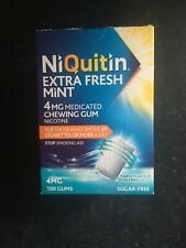 Niquitin Extra Fresh Mint 4mg Medicated Chewing Gum X 100. Exp 12/21