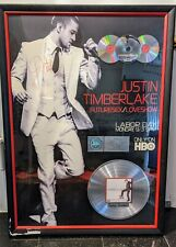 Justin Timberlake -Futuresex/Loveshow-Hbo- Promo Poster framed signed/4 Discs