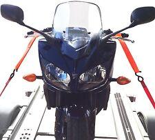 Motorcycle Motorbike Quad handlebar tie down trailer Ratchet Straps - set of 2