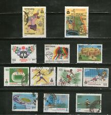 INDIA : 9TH ASIAN GAMES - 1982, COMPL. SET OF 12 ,LARGE, COMMMEMO.  FU.