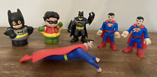 Batman And Superman Toy Lot Action Figure Variety Lot Of 6 Comic Book Items