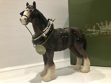 Large Leonardo Brown Shire Clydesdale Horse Gift Figurine Ornament '21cm'