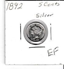 Canada 1892 5 cent silver nickel