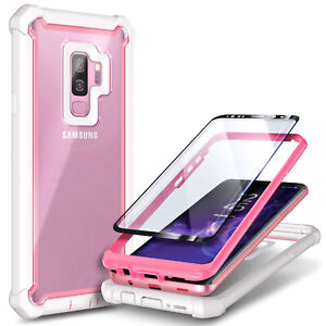 For Samsung Galaxy S9 / S9 Plus Case Full-Body Hybrid Cover + Screen Protector