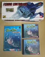 PS1 Bass Rise + FISHING CONTROLLER + Guidebook Sony PlayStation BANDAI