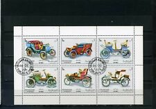 SHARJAH 1972 Mi#1332-1337 OLD CARS SHEET OF 6 STAMPS CTO