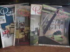 4 Issues 1948/49 Prestige Magazine for Executive Office Furniture Ad - Pomerantz