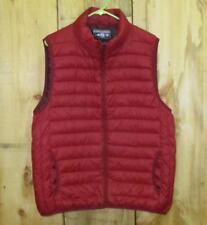 SADDLEBRED Men's-Red- Packable Lightweight Down Vest- Size L