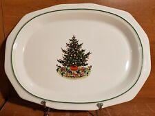"Pfaltzgraff CHRISTMAS HERITAGE 14"" Oval Serving platter, Excellent"