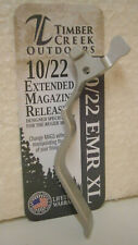 Timber Creek Ruger 10/22  Silver Finish Extra Long Magazine Release .