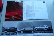 Pressemappe Peugeot 605 zur Premiere, 10.1989, 9 Blätter Text, 3 Fotos