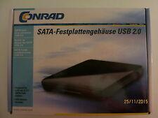Conrad Sata-Festplattengehäuse USB 2.0 incl. Rechnung 04-2015/ 2-J. Garantie