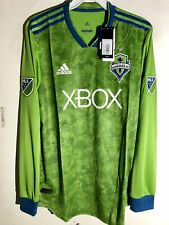 Adidas Authentic MLS Long Sleeve Jersey Seattle Sounders Team Green  sz LARGE