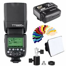 Godox TT685C Speedlite Flash HSS E-TTL II for Canon +X1T-C Transmitter + Softbox
