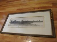 HENRY ROSENBERG (1858-1947 IL/NY) TRANQUIL RURAL LANDSCAPE ETCHING W/REMARQUE