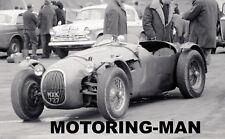 HWM JAGUAR MXK 727 1963 BRANDS HATCH PADDOCK PHOTOGRAPH ROD LEACH ABECASSIS