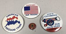Lot Of 4 Antique And Vintage Rare 1945 Red American Morning Pin & 3 Later Pins
