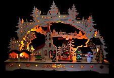 3D Schwibbogen LED Lichterbogen Erzgebirgische Weihnacht 84071 mit Adapter