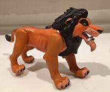 "Vintage Disney The Lion King 6"" SCAR Fighting Action PVC Figure Toy"